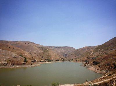 Wadi Ziglab, one of Jordan's water reservoirs.