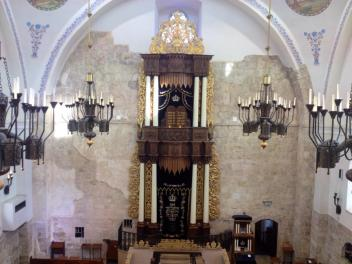 The beautiful Hurva Synagogue was raised along with the rest of Jerusalem's Jewish Quarter in 1948 by the Jordanians.  When Israel recaptured the Jewish quarter in 1967, the synagogue was rebuilt.  PC: Eddie Grove