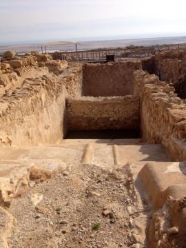 Qumran, where the Dead Sea Scrolls were discovered, is near the Dead Sea settlement of Qalya. PC: Eddie Grove