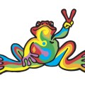 Peace frogs retro car magnet car accessories peace frogs