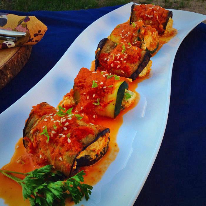 Vegan Italian Recipes Zucchini Eggplant Lasagna Rolls