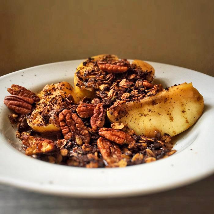 vegan dessert recipes stovetop apple crumble peaceful dumpling