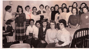 1956-Hanna-Kroeger-Top-Left-Lisa-Kroeger-Bottom-Left-Graduating-Her-Practical-Nursing-Class