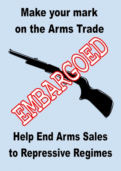 Peace Hub arms trade poster 1