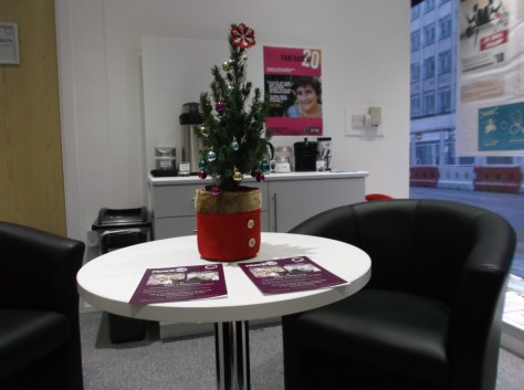 Thanks to our volunteer who lent us some festive decorations.