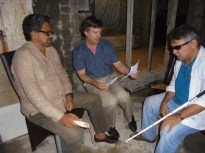 Author with FARC's Marquez and Santrich