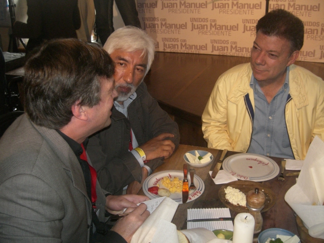 Author with Juan Manuel Santos