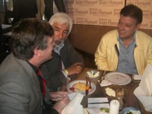 Author with Juan Manuel Santos