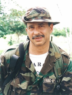 "The FARC's ""Simon Trinidad,"" during his days in the ""Distension Zone."" The FARC calls ""Simon"" a ""revolutionary's revolutionary"" and a ""man of iron"" who inspires it, as he serves a long prison sentence in the United States. © Photo by Steve Salisbury. All rights reserved."