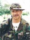 """The FARC's """"Simon Trinidad,"""" during his days in the """"Distension Zone."""" The FARC calls """"Simon"""" a """"revolutionary's revolutionary"""" and a """"man of iron"""" who inspires it, as he serves a long prison sentence in the United States. © Photo by Steve Salisbury. All rights reserved."""