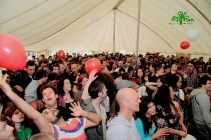 Inside the mainstage marquee