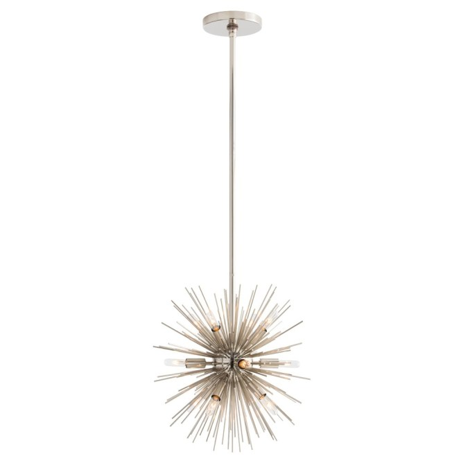 Arteriors Lighting Mini Zanadoo Chandelier 89002 Gray Steel