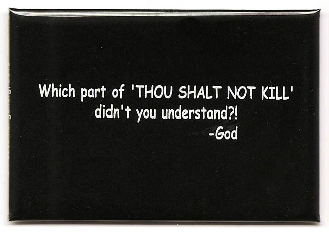 Image result for thou shalt not kill