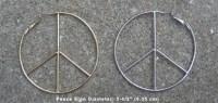 Peace Symbol Wire Hoop Earrings Peace Sign Hoop Earrings ...