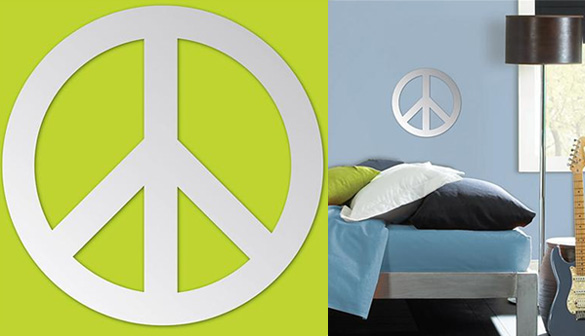 The Artwork Factory 17097 Peace Sign Ready To Hang