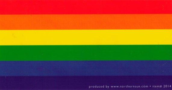 Rainbow flag bumper sticker