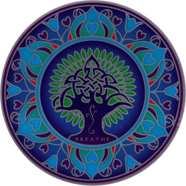 "Earth Mandala - Window Sticker Decal 5.5"" Circular"