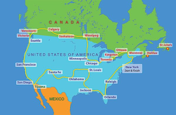 United States of America Route 2016 The Sri Chinmoy