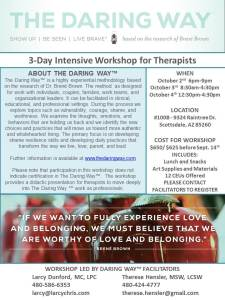 October 2015 3 day Intensive Workshop