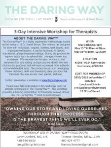 3 day May Intensive Workshop