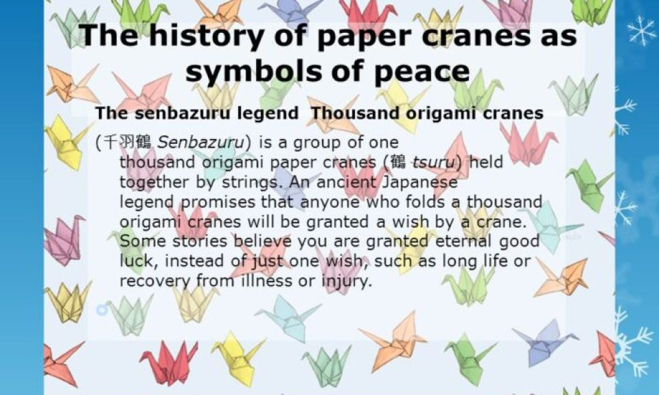 Origami Peace Cranes Peace Week Delaware