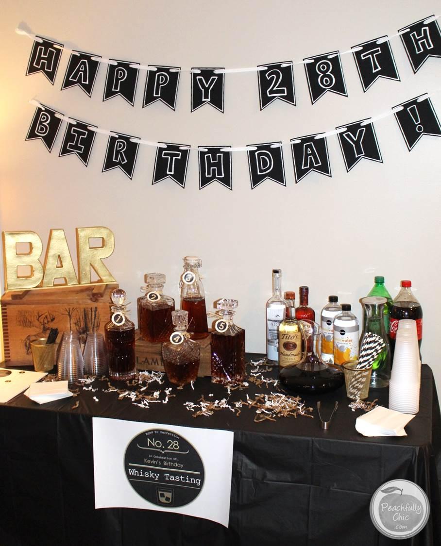Planning A Guy S Birthday Party Whiskey Tasting