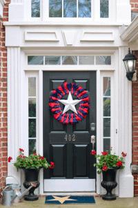 3 Ideas for Patriotic Doorway Decor | Peachfully Chic