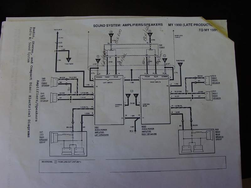 Here Is A Diagram You Will Need To Run New Speaker Wires To The Stock