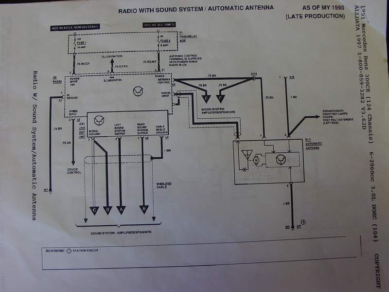 W124 Factory Radio Wiring Schematics Mbworldorg Forums