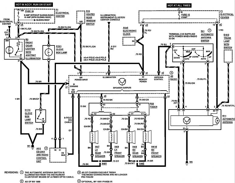 1989 Lincoln Town Car Stereo Wiring Diagram, 1989, Free