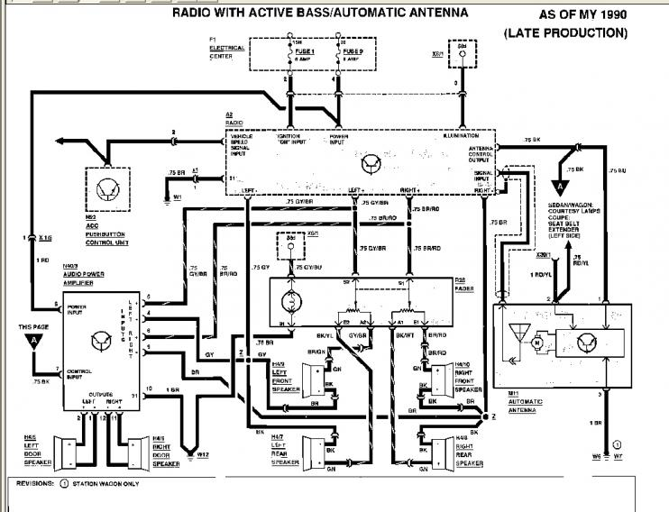 1990 300e Mercedes Benz Relay Diagram, 1990, Free Engine
