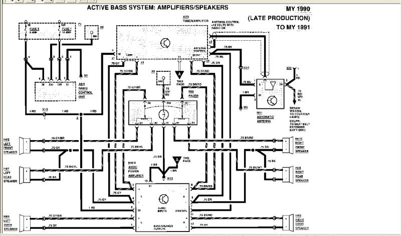 1987 190e mercedes radio wiring harness images