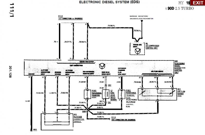 1987 Mercedes 190d Vacuum Diagram. Mercedes. Auto Wiring