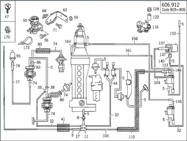 Mercedes w124 vacuum lines