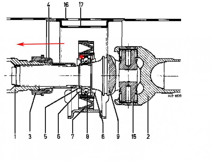 How to replace the driveshaft support (carrier) bearing