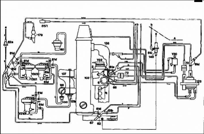 1982 Mercedes 240d Vacuum Diagram, 1982, Free Engine Image