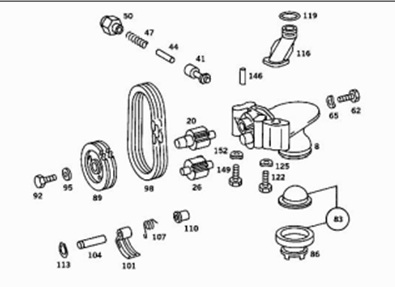 Oil pump chain tensioner replacement 1983 300SD