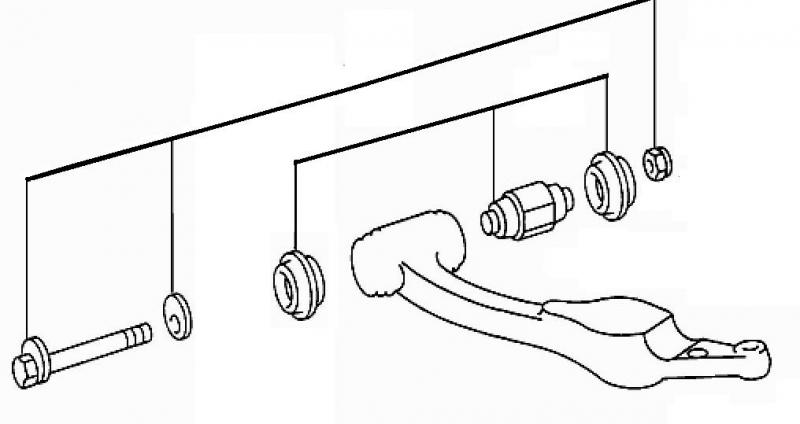 DIY W126 Guide Rod, lower control arm bushing and