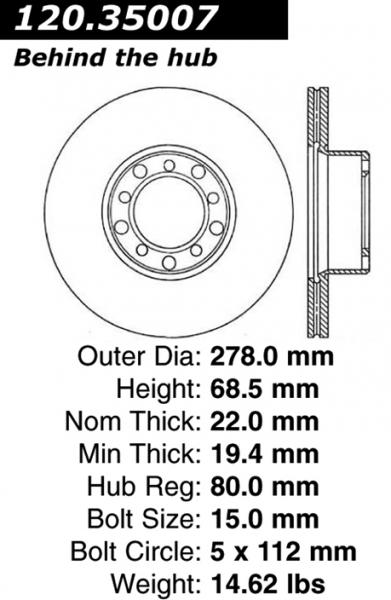 560SL (R107) front brakes in a W123= NO GO