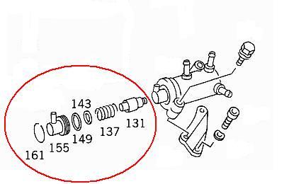 OM601, 602. 603 Diesel fuel thermostat REBUILD parts list