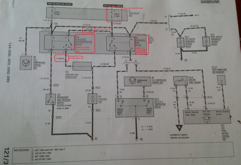 30 Amp Relay Wiring Diagram Electric Fan Auxiliary Fan Preresisor Delete Peachparts Mercedes
