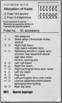 fuse box chart 2000 s430 - peachparts mercedes-benz forum