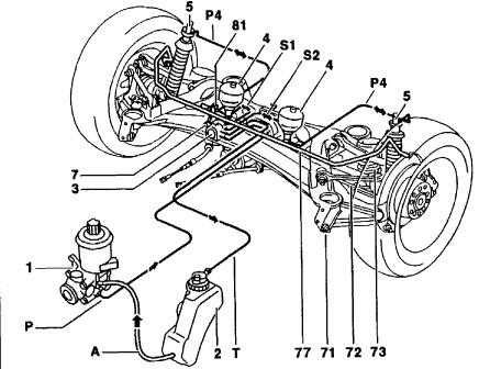 Air suspension for 300E 1988