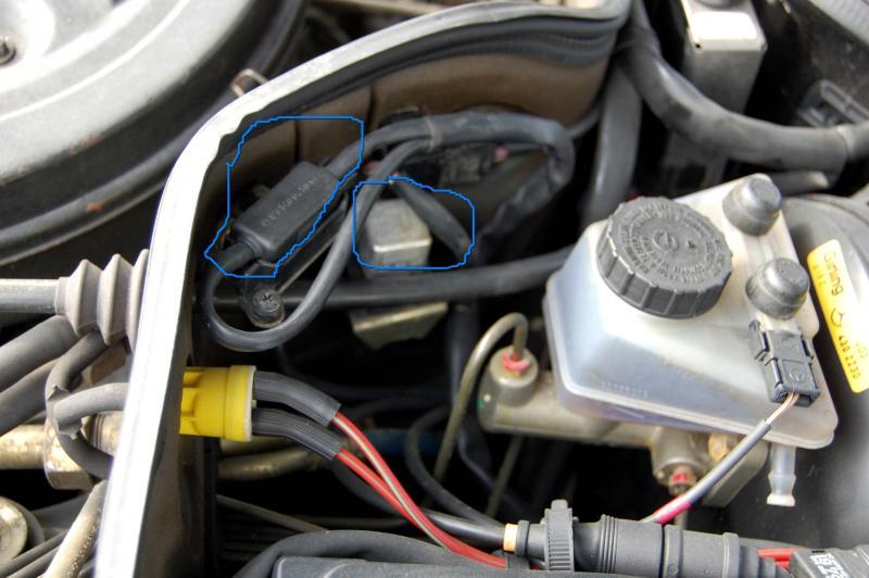 1999 Mercy R170 Front Engine Fuse Box Diagram