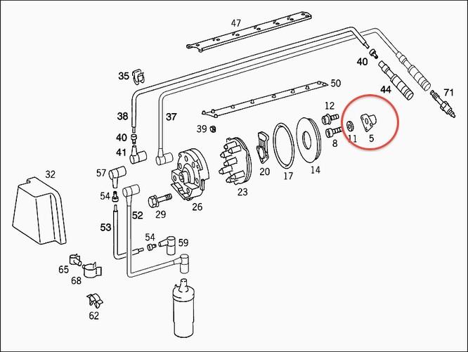 FYI Broken M103 camshaft rotor adapter distributor rotor