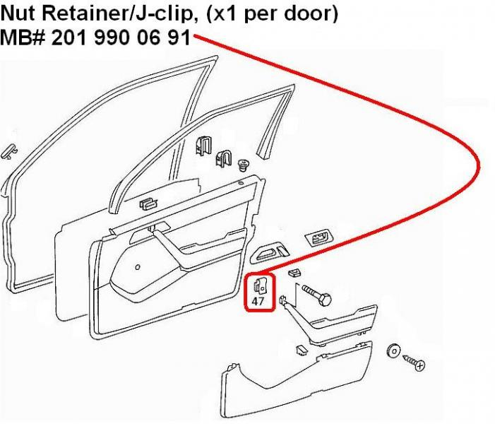 94 w124 door panel removal, door check replacement, map