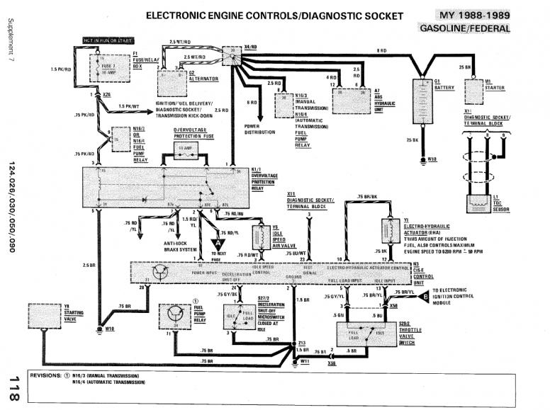 Wiring Diagram 1989 Mercedes Benz Sl560