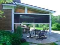 Motorized Patio Shades - Window Treatments