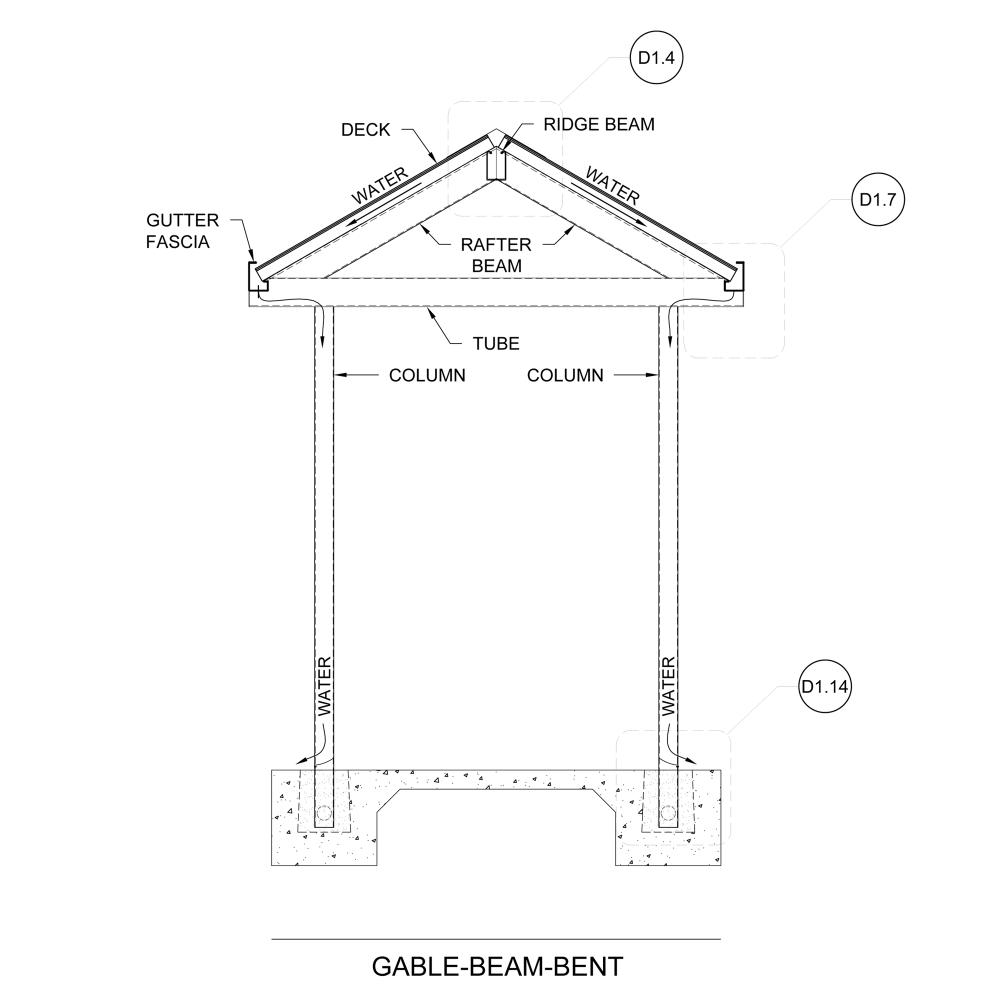 medium resolution of gable ridge bent