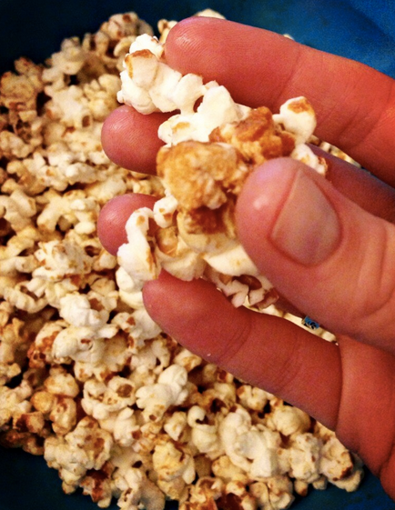 Cheese and marmite popcorn